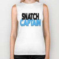 snatch Biker Tanks featuring Snatch Captain by Raunchy Ass Tees