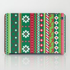 Fair Isle Christmas Pattern iPad Case