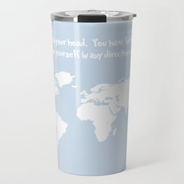 Dr. Seuss inspirational quote with earth outline Travel Mug