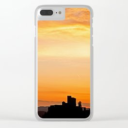 Trifels castle at dusk Clear iPhone Case