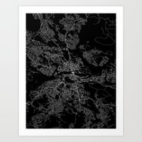 stockholm Art Prints featuring Stockholm  by Line Line Lines