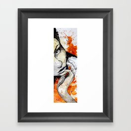 Jean by carographic, Carolyn Mielke Framed Art Print