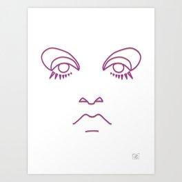 Twiggy in purple and gold Art Print