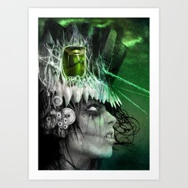 wasted mind, wasted earth Art Print