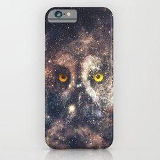 Purple Galaxy Nebula Stars Blue Space Hipster Owl Slim Case iPhone 6s