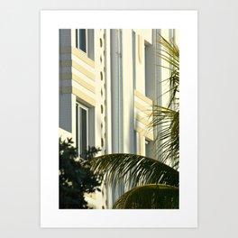 South Beach Art Deco at Sunrise Art Print