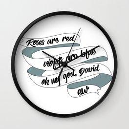 Schitts Creek Ew David. Rosebud motel birthday party gifts Wall Clock