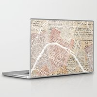 paris map Laptop & iPad Skins featuring Paris map by Mapsland