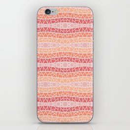 Mosaic Wavy Stripes in Peach and Pinks iPhone Skin
