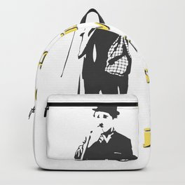 Charlie Chaplin Quote - You'll Find That Life is Still Worthwhile if You Still Smile Backpack