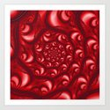 Fractal Web in Red White and Black by charmarose