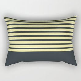 Navy stripes on yellow Rectangular Pillow