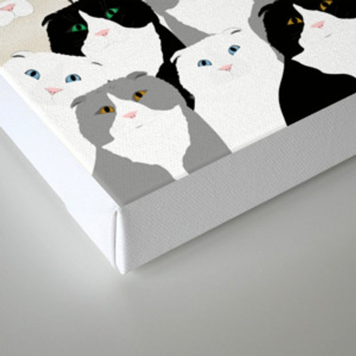 Cats and Dog Canvas Print