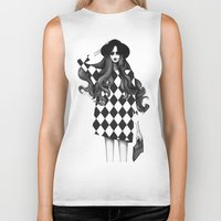 fashion illustration Biker Tanks featuring Fashion Illustration by Sibling & Co.