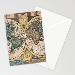 Vintage Map of The World (1740) Stationery Cards
