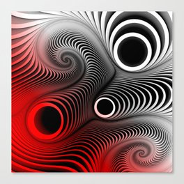 directions in red, white and black Canvas Print