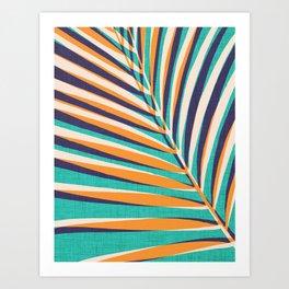 Gold Palm Frond Art Print