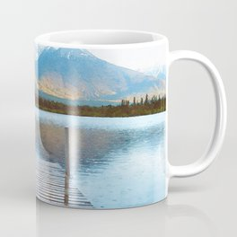 Lake reflections watercolor painting #2 Coffee Mug