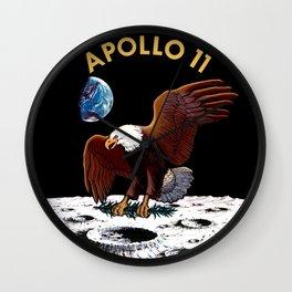 Apollo 11 insignia Wall Clock
