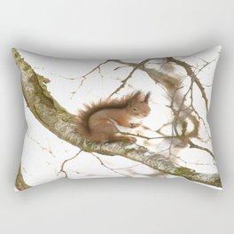 Little Squirrel On The Branch - Autumn Scene #decor #society6 #buyart Rectangular Pillow