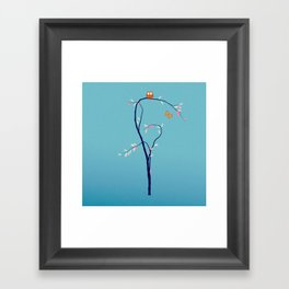 The Owl and the Butterfly Framed Art Print