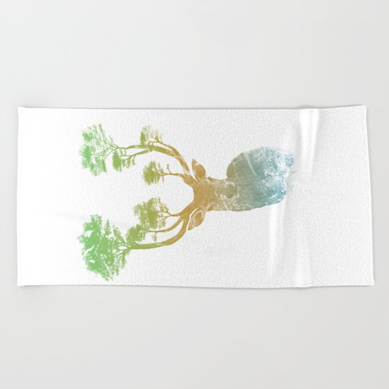 Summer Stag Beach Towel