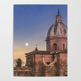 San Giovanni Battista dei Fiorentini Church, Rome, Italy Poster
