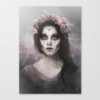 day of the dead Canvas Prints featuring Day of the Dead by Nicolas Jamonneau