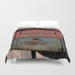 Vintage Postal Drop Box Duvet Cover