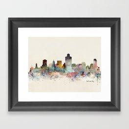 salt lake city skyline Framed Art Print