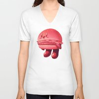 kirby V-neck T-shirts featuring Kirby Patty by Vaughn Pinpin