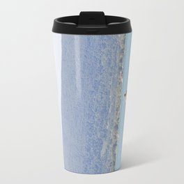 Woman on surfboard Travel Mug
