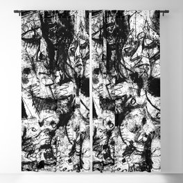 Encounter b&w Blackout Curtain