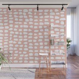 Dots / Pink Wall Mural