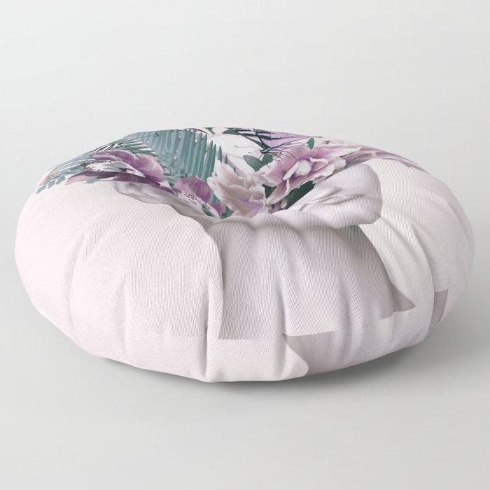 Tropical Girl 3 Floor Pillow