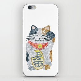 Watercolor Maneki Neko / Lucky Cat iPhone Skin