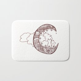 44. Cat Lovers on the Moon with Henna Bath Mat