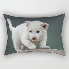 White lion cub Rectangular Pillow