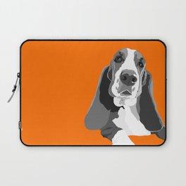 Basset Hound Portrait Laptop Sleeve