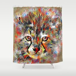 Cub with the heart of a lion Shower Curtain