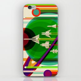 NASA Space Saturn Shuttle Retro Poster Futuristic Explorer iPhone Skin