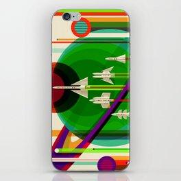 NASA Outer Space Saturn Shuttle Retro Poster Futuristic Explorer iPhone Skin