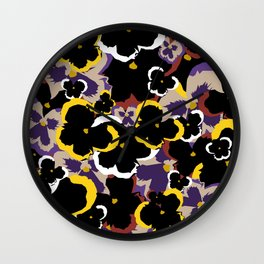 Pansy Love Wall Clock