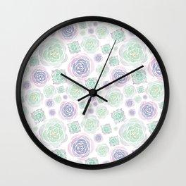 Home Decor Succulents: Natural Wall Clock
