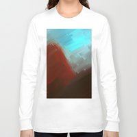 free shipping Long Sleeve T-shirts featuring Mountains in blue by Ordiraptus