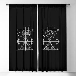 Maman Brigitte Voodoo veve Loa Lwa Blackout Curtain