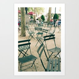 Bryant Park Chairs Art Print