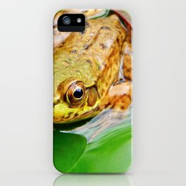Frog on Pad iPhone Case