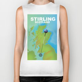 Stirling Scotland Travel poster, Biker Tank