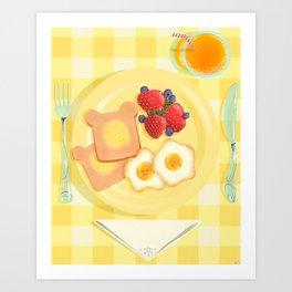 Sunny Side Cafe Art Print